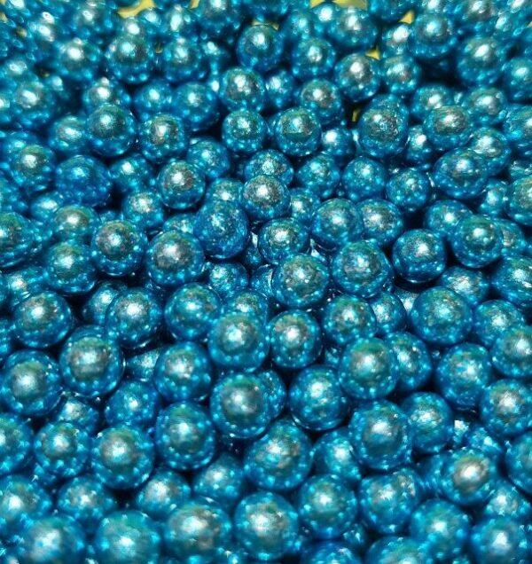 Perla Metalizada Azul 4mm