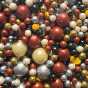 Mezcla Sprinkles Negro-Dorado-Rojo